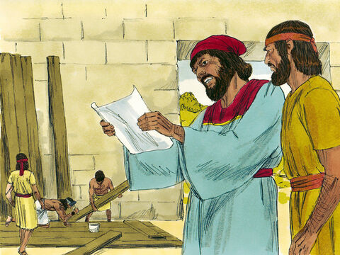 They sent the same message another three times but each time Nehemiah refused to leave Jerusalem. Then they sent Nehemiah a letter accusing him of planning to rebel against the King of the Medes and Persians. 'That is not true,' Nehemiah replied, then prayed to God saying, 'Now strengthen my hands.' – Slide 18