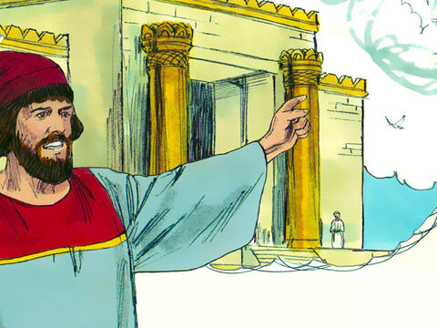 Nehemiah knew that it was wrong for him to enter the Temple. 'Should I run away? Should I go into the temple to save my life? I will not go!' he insisted.  – Slide 20