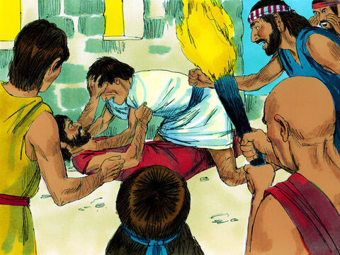 However everyone else was disobeying God. People were treating each other very badly. – Slide 2