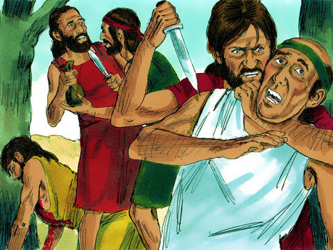 God saw that the people He had created had become very wicked and violent. – Slide 3