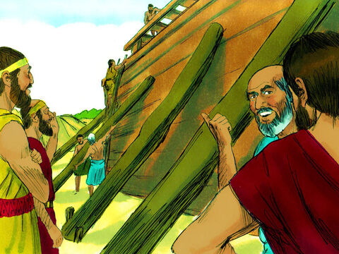 The wicked people around wondered what Noah and his sons were doing. – Slide 7