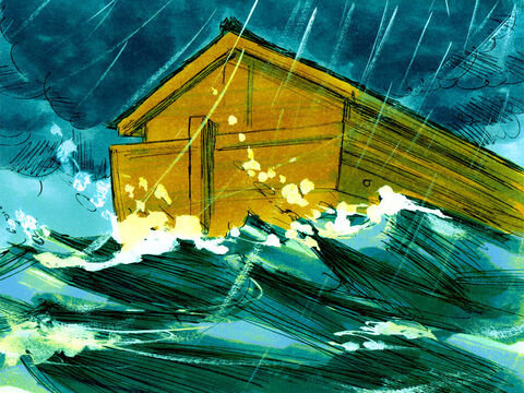 As the waters rose, the ark began to float. – Slide 11