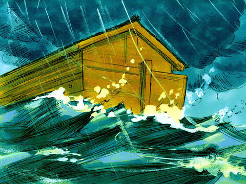 The water flooded the earth for 150 days but those on board the ark were kept safe. – Slide 13