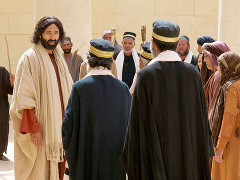 A teacher of the Law came up and tried to trap Jesus. 'Teacher,' he asked, 'what must I do to receive eternal life?' Jesus answered him, 'What do the Scriptures say? How do you interpret them?' – Slide 1