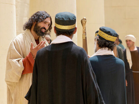 Jesus concluded, 'In your opinion, which one of these three acted like a neighbour toward the man attacked by the robbers?' The teacher of the Law answered, 'The one who was kind to him.' – Slide 28