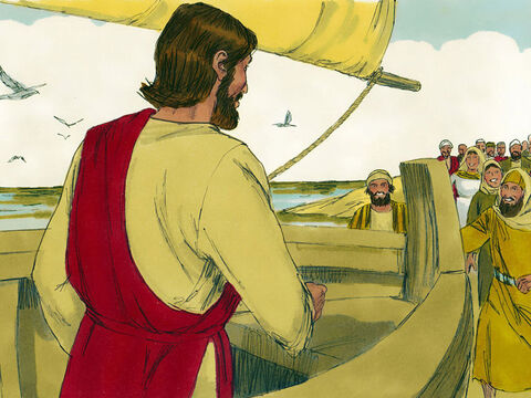 So Jesus got into a boat moored near the shore while the crowds stood on the waters edge. Jesus then told them this parable. – Slide 2