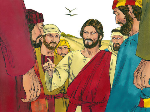 Jesus told the crowds, 'Whoever has ears let them hear.' – Slide 7