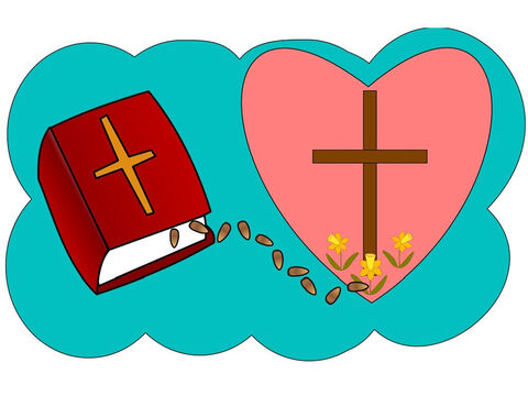 There are some very important words that God spoke a long time ago in the Bible. If you believe them they can be planted in your heart today and you can become a Christian. 'For God so loved the world that he gave His one and only Son, that whoever believes in Him shall not perish but have eternal life' (John 3:16 NIV). – Slide 13