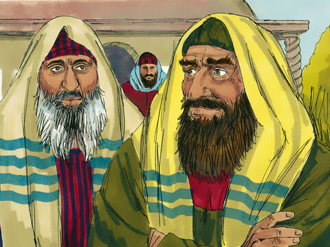 Large crowds were in Jerusalem for the feast of the Passover. Among them were those looking for an excuse to arrest Jesus. They joined the crowds listening to Jesus teach in the temple courts. – Slide 1