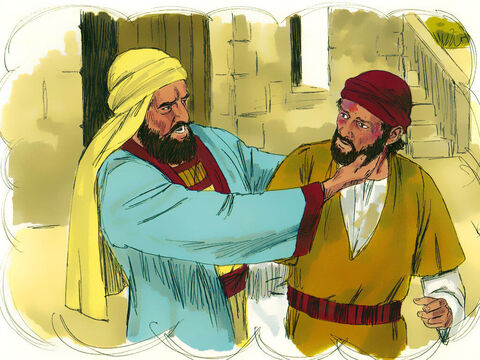 However the tenant farmers seized the servant, beat him and sent him back empty-handed. – Slide 6