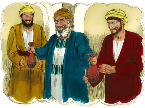 """Jesus told them this story:'A man had two sons.The younger son told his father, """"I want my share of your estate now before you die."""" So his father agreed to divide his wealth between his sons. – Slide 2"""