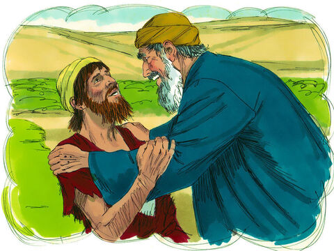"""'He sobbed, """"Father, I have sinned against both heaven and you, and I am no longer worthy of being called your son."""" – Slide 13"""
