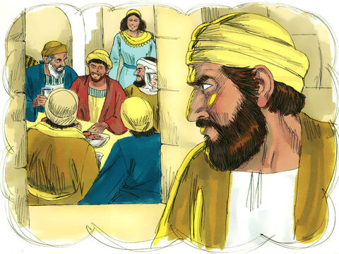 'Meanwhile, the older son was in the fields working. When he returned home, he heard music and dancing in the house. When he found out his brother had returned and his arrival was being celebrated, he was very angry. – Slide 15