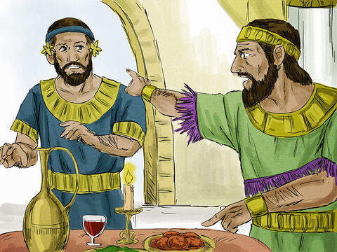 """Then the King said to his servants, """"The wedding banquet is ready, but those I invited did not deserve to come.So go to the street corners and invite to the banquet anyone you find."""" – Slide 11"""