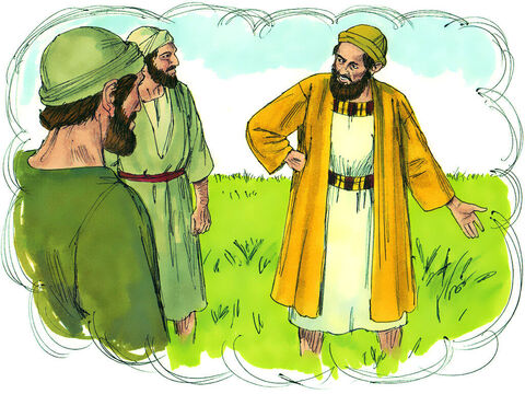 """'""""An enemy did this,"""" he replied.The servants asked, """"Do you want us to go and pull them up?""""""""No,"""" he answered, """"because while you are pulling the weeds, you may uproot the wheat also. Let both grow together until the harvest. Then I will tell the harvesters to collect the weeds first and tie them in bundles to be burned. After that, they will gather the wheat and bring it into my barn.""""' – Slide 5"""