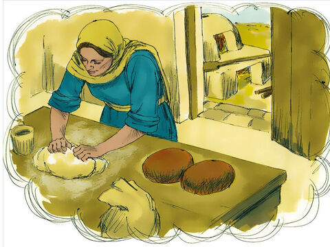 'Even though she put only a little yeast in three measures of flour, it permeated every part of the dough.' – Slide 5
