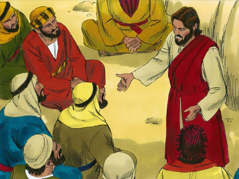 Jesus also explained, 'The Kingdom of Heaven is like a treasure that a man discovered hidden in a field. – Slide 6