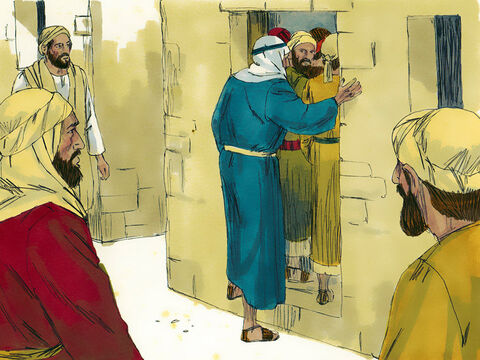 Jesus was in the town of Capernaum. Pharisees and Teachers of the law from all over Galilee had come to hear him. The building they were in was crammed full to overflowing. – Slide 1