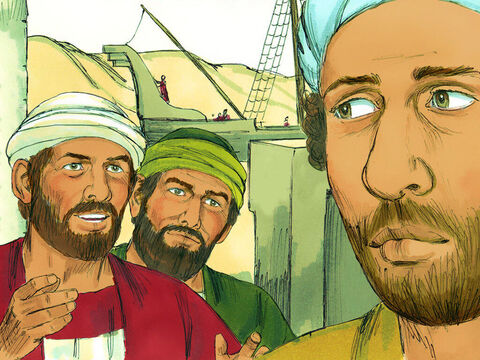 When they landed in Perga, John Mark decided to leave Paul and Barnabas and return to Jerusalem. – Slide 3