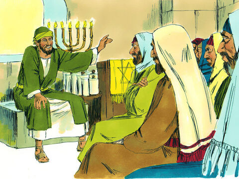 Paul spoke to them explaining how God had delivered the Jews from Egypt and promised a Messiah who would be a descendant of King David. – Slide 6