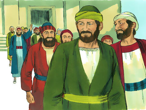 When Paul and Barnabas left the synagogue, the people begged them to return the following week to speak further about these matters. – Slide 8