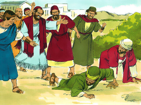The Jews stirred up the influential religious women and the leaders of the city, and they incited a mob against Paul and Barnabas and ran them out of town. – Slide 10
