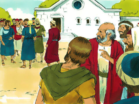 Some of the Jews, however, spurned God's message and poisoned the minds of the Gentiles against Paul and Barnabas. Opinion was divided. Some sided with the Jews, and some with the Paul and Barnabas. – Slide 13