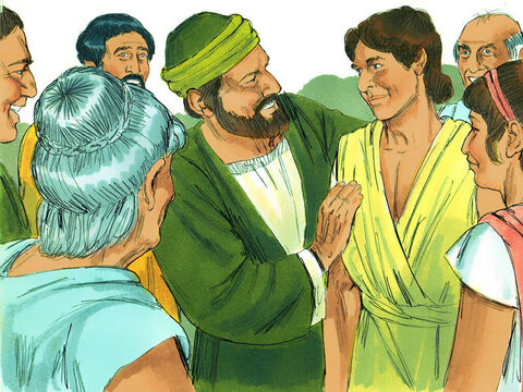 At Lystra, they met a young Christian called Timothy. His mother was a Jewish believer, but his father was a Greek. The local Christians thought very highly of him and Paul invited Timothy to join them on their journey. – Slide 7