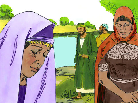 On the Sabbath they went outside the city to a riverbank, where they thought people would be meeting for prayer. They sat down to speak with some women who had gathered there. – Slide 15