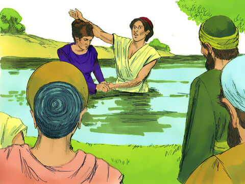 She was baptized along with other members of her household. She invited Paul, Silas and Timothy to stay as guests at her home while they were in Philippi. – Slide 17