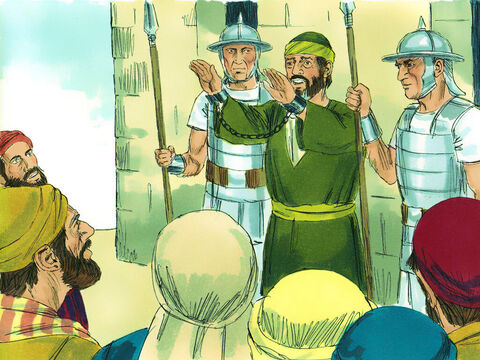 As Paul was about to be taken inside, the commander asked,'Aren't you the Egyptian who led a rebellion some time ago and took 4,000 rebels out into the desert?' 'No,' Paul replied, 'I am a Jew and a citizen of Tarsus in Cilicia. Please, let me talk to these people.'The commander agreed and the crowd went silent. – Slide 7