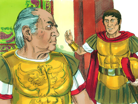When the officer heard this, he went to the commander and asked, 'What are you doing? This man is a Roman citizen!' – Slide 12