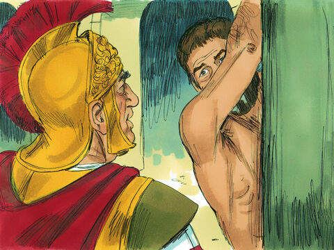 The commander went over and asked Paul, 'Are you a Roman citizen?''Yes, I certainly am,' Paul replied.'I am, too,' the commander muttered, 'and I had to pay a lot of money to get citizenship!'Paul answered, 'But I am a citizen by birth!'Paul was untied immediately. – Slide 13