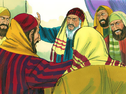 .Paul began: 'Brothers, I have always lived before God with a clear conscience!'Instantly Ananias the high priest commanded those close to Paul to slap him on the mouth. 'What kind of judge are you to break the law by ordering me struck like that?' Paul asked. – Slide 15