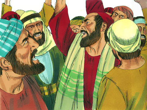 The next morning a group of Jewsgot together and made an oath not to eat or drink until they had killed Paul. – Slide 19