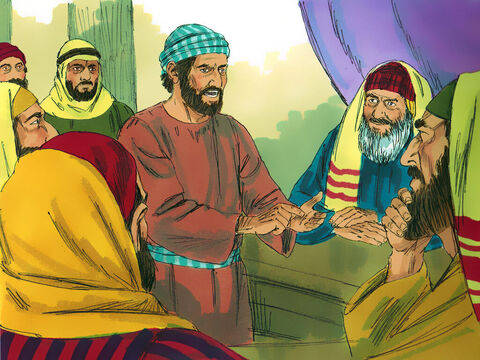 They went to the leading priests and elders and told them, 'We have made an oath to eat nothing until we have killed Paul.So you and the high council should ask the commander to bring Paul back to the council again so we can kill him on the way.' – Slide 20