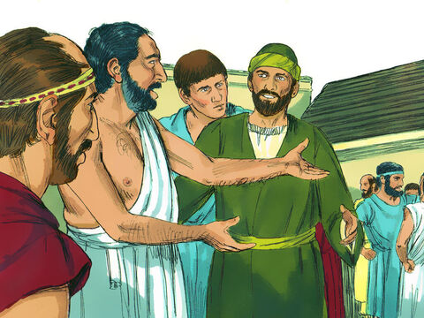 He went to the synagogue to reason with the Jews and the God-fearing Gentiles, and he spoke daily in the public square to all who were there. The Athenians liked to spend time discussing the latest ideas. – Slide 3