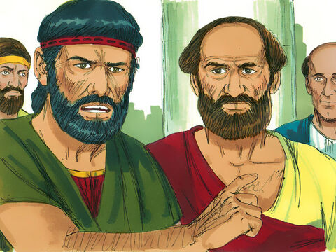 They took Paul to the high council of the city who asked,'Tell us about these strange things and new teaching.' – Slide 5