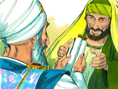 Acts 9. Saul went to the High Priest and asked for papers giving him permission to go to Damascus and arrest any belonging to 'The Way' (as Christians were known). – Slide 3