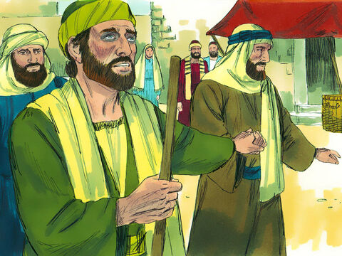 So they led Saul by the hand into Damascus. For three days he was blind, and did not eat or drink anything. – Slide 8
