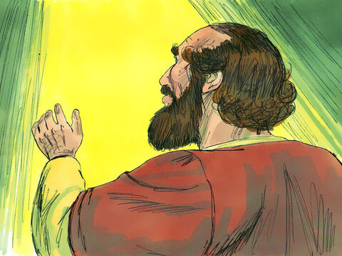 'Go to the house of Judas on Straight Street and ask for a man named Saul. He is praying. In a vision he has seen a man named Ananias come and place his hands on him to restore his sight.' – Slide 10