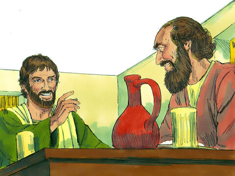 Saul got up and was baptised, and after taking some food, he regained his strength. – Slide 14