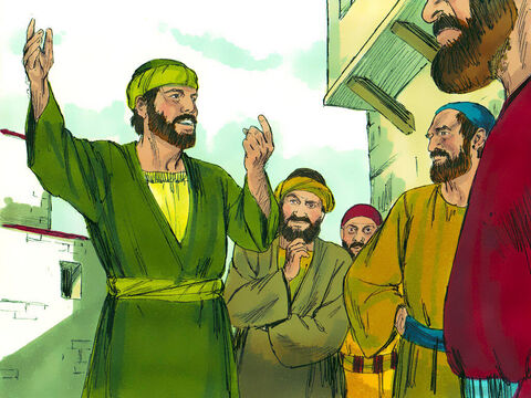 Saul powerfully explained to them that Jesus is the Messiah. A few days later some Jews who were against Jesus plotted to kill Saul. – Slide 18