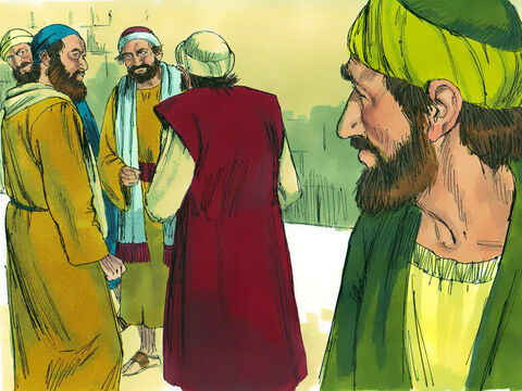 Saul returned to Jerusalem where he tried to join the disciples. But they were all afraid of him, not believing that he really was a disciple. – Slide 21