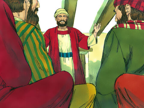 However Barnabas explained that Saul was now a Christian, and how he had preached in Damascus that Jesus is the Son of God. So the Apostles welcomed Saul who started speaking boldly about Jesus in Jerusalem – Slide 22