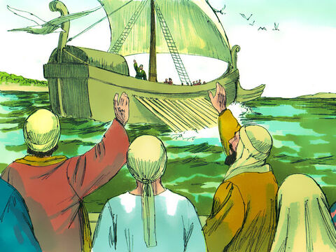 To protect Saul the believers took him to the port of Caesarea and sent him back to his home city of Tarsus. Saul was his a Jewish name but as a Roman citizen he also had the Latin name of 'Paul'. – Slide 24