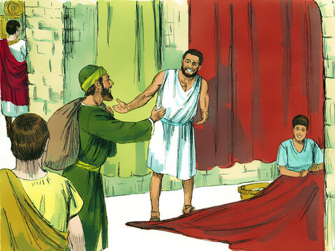 Paul made friends with a Jewish couple, Priscilla and Aquila who had been forced to leave from Rome when Claudius Caesar banned Jews from the city. Pricilla and Aquila were tent-makers, which was also Paul's trade. – Slide 2