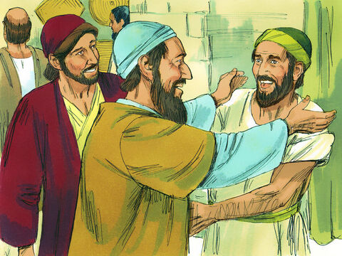 After a while, Paul was joined by Silas and Timothy who arrived from Berea. They continued to boldly tell others about Jesus. – Slide 4