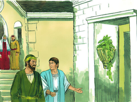 Paul left and went to the home of Titius Justus, a Gentile who worshipped God and lived next door to the synagogue. Crispus, the leader of the synagogue, and his household believed in the Lord. – Slide 6
