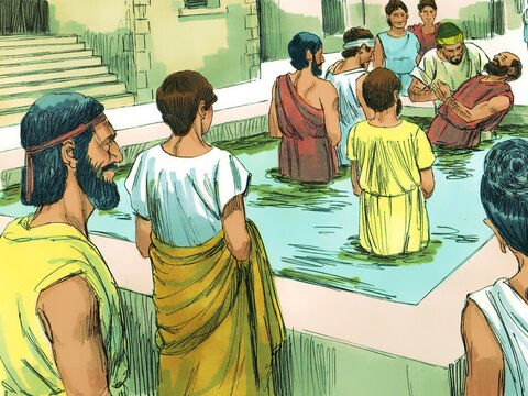 Many others in Corinth also heard Paul, became believers, and were baptised. – Slide 7